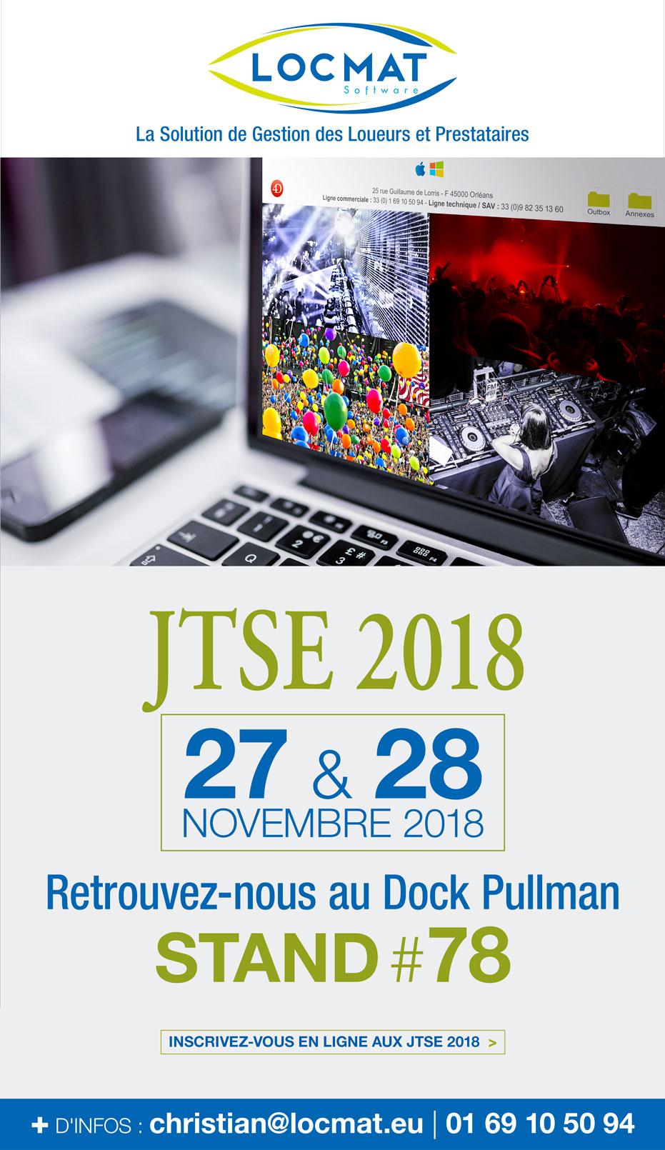 RDV aux JTSE 2018 Stand #78